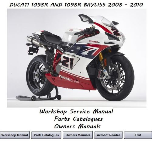 Pay for Ducati 1098R & 1098R Bayliss Workshop Service Manual