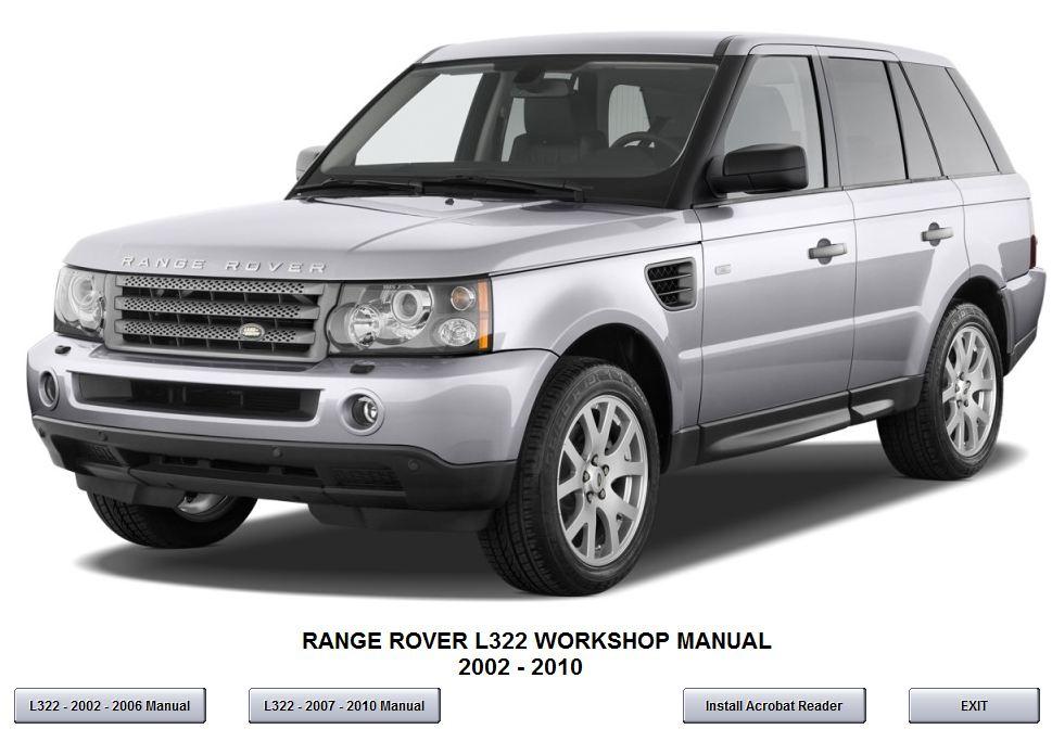 range rover l322 2007 2010 workshop service repair. Black Bedroom Furniture Sets. Home Design Ideas