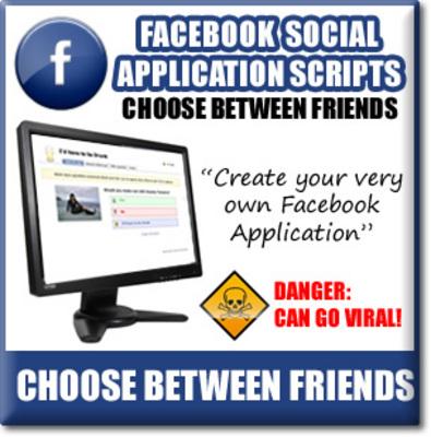 Pay for Facebook Choose Between Friends - Viral Facebook APP