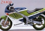 Thumbnail 1990 Kawasaki ZXR400 ZX400-H2 Motorcycle Workshop Service Manual in German