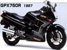 Thumbnail 1987 Kawasaki GPX750R (Zx750-F1) Motorcycle Workshop Service Manual in German