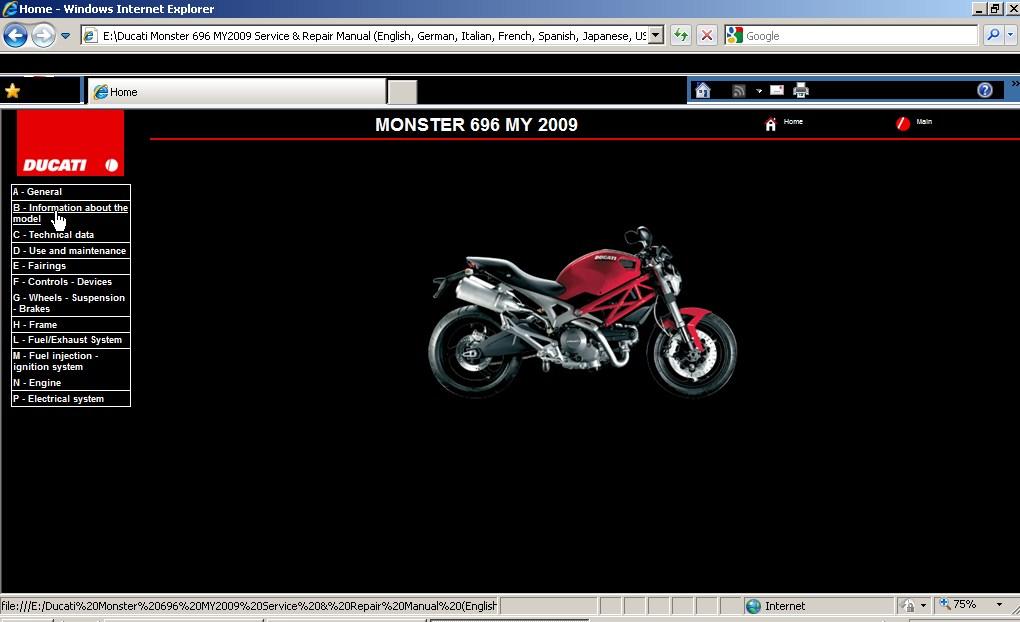 service manual ducati monster 696