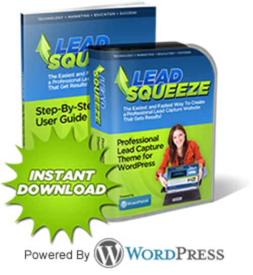 Pay for WordPress Lead Squeeze Theme -Squeeze Page WordPress Theme