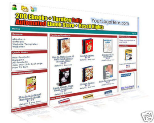 Pay for Turnkey eBooks Web Store