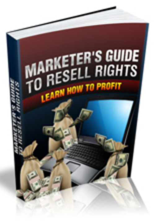 Pay for Marketers Guide to Resell Rights
