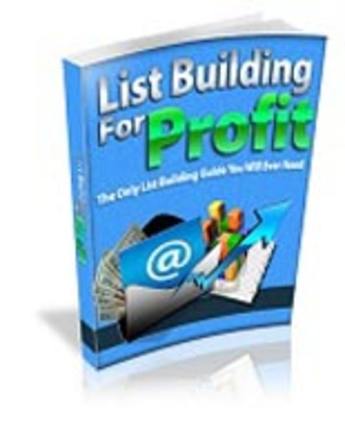 Pay for List Building for Profits