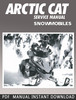 Thumbnail 2001 Arctic Cat Snowmobile Service Repair Manual Download