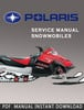 Thumbnail 2007 Polaris 2-Stroke Snowmobile Service Repair Manual