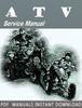 Thumbnail 2001 Arctic Cat ATV Service Repair Manual Download