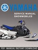 Thumbnail 2010-2012 Yamaha Vector/ RSVector RS90GTZ RS90LTGTZ RST90GTZ RS90PB RS90PLTB RST90PGTB Snowmobile Service Repair Manual Download