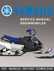 Thumbnail 2000-2002 Yamaha SRX700D SRX700SD SRX700G SRX700SG Snowmobile Service Repair Manual Download