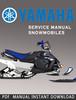 Thumbnail 2004 Yamaha SXV60ER SXV60 VT60 Snowmobile Service Manual