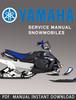 Thumbnail Yamaha SV125P SV125EP Snowmobile Service Repair Manual Downl