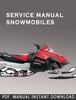 Thumbnail 2006-2008 Polaris FS / FST Snowmobile Service Repair Manual