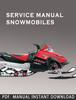 Thumbnail 1972-1981 Polaris Snowmobile Service Repair Manual Download