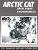 Thumbnail 2000 Artic Cat Snowmobiles Service Repair Manual Download