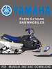 Thumbnail 2008 Yamaha FX10MTX / FX10MTRX Snowmobile Parts Catalogue