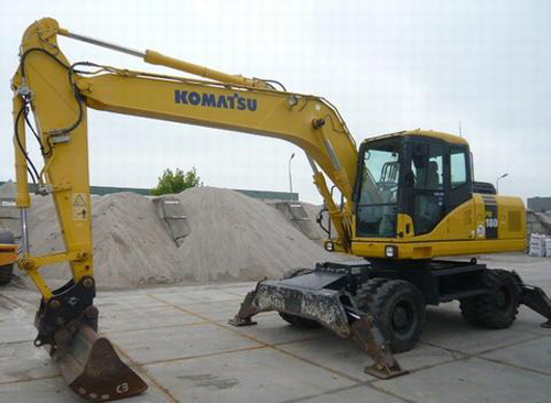 komatsu pw160 7k hydraulic excavator service repair shop. Black Bedroom Furniture Sets. Home Design Ideas