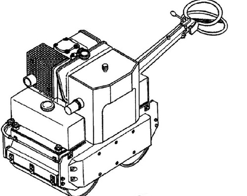 vibromax 70b walk-behind roller service repair manual