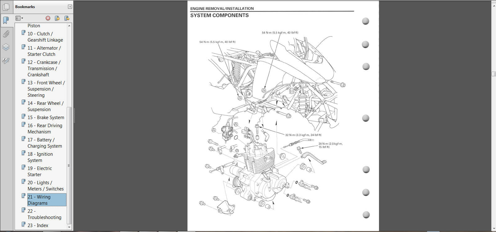 2016 Honda Trx250ex Owners Manual 250ex Wiring Diagram