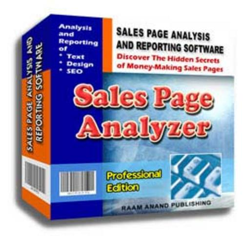 Pay for Sales Page Analyzer Professional Edition Software