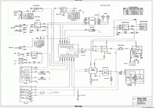 Doosan Dh050 Dh50 Excavator Electrical Hydraulic Schematics Manual Instant Download