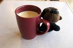 Thumbnail Monkey with coffee