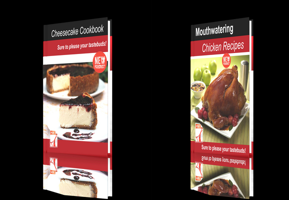 Pay for **NEW!**Two cookbooks Chicken Recipes+Cheesecake Cookbook.