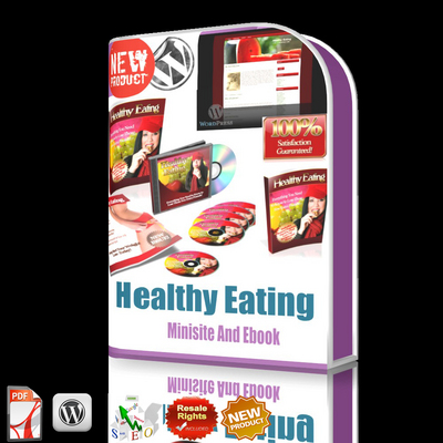 Pay for *NEW!*Healthy Eating MRR/Minisite/WordPress Template/ebook