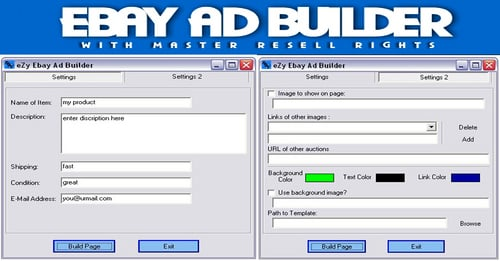 Pay for Ebay Ad Builder/how to make money on ebay/ebay make money