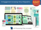Thumbnail 10 Engagement Increasing Story Infographics PLR License