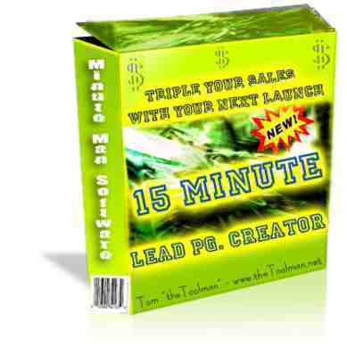 Pay for *NEW* 15 Minute Lead Page Creator with Master Resale Rights