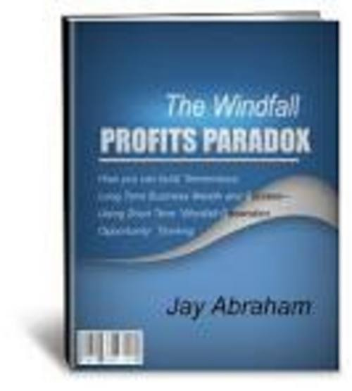 Pay for The Windfall Profits Paradox