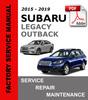 Thumbnail Subaru Legacy & Outback 2015 - 2019 Service Repair Manual
